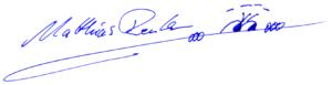 Unterschrift Matthias Reuter