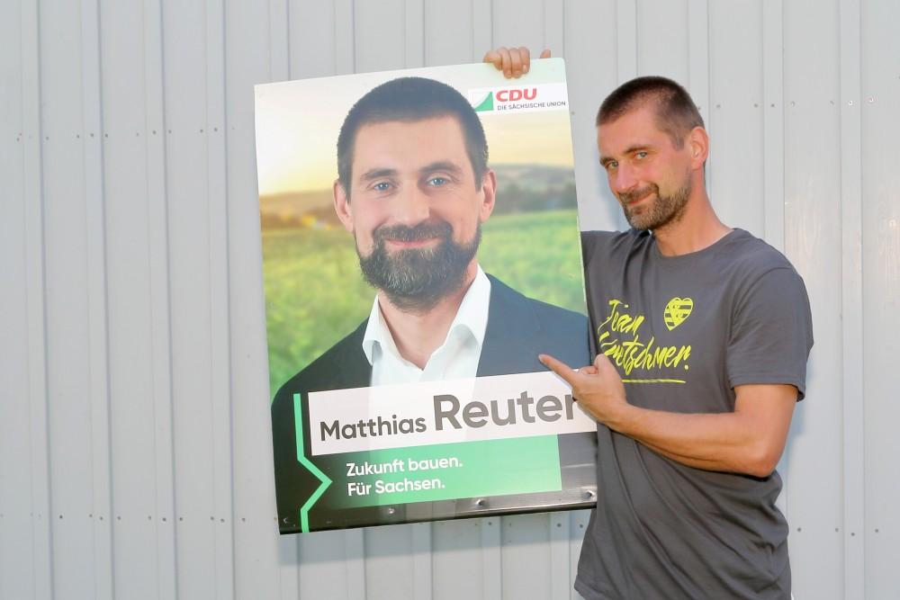 das Plakat und in echt